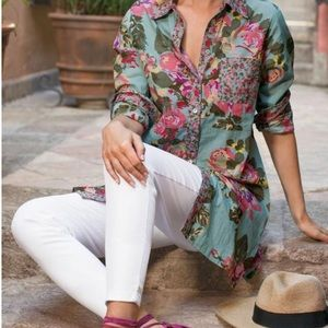 Soft Surroundings Scattered Roses Shirt